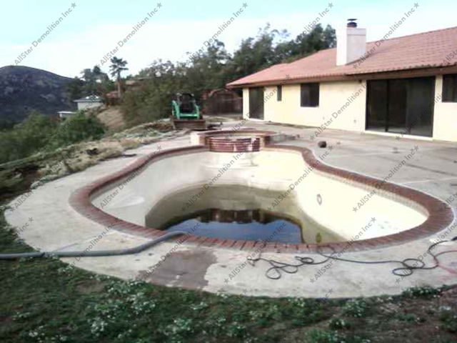Before Pool Demolition
