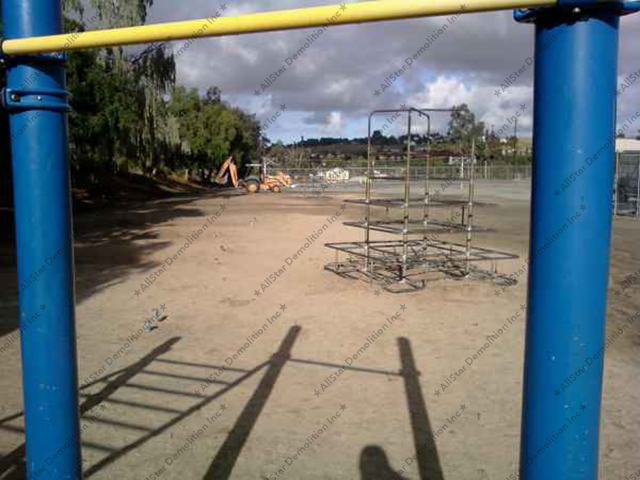Before Playground Removala and Grading
